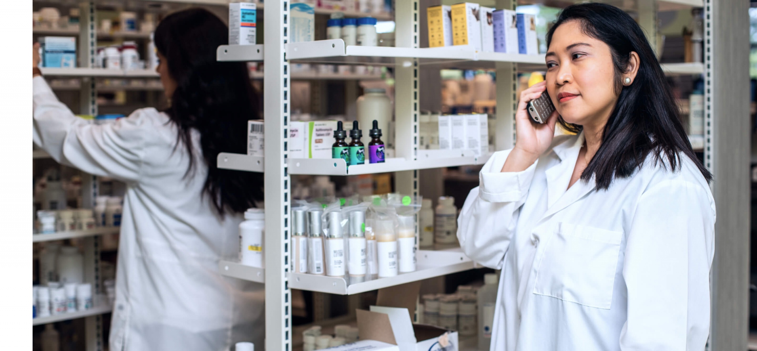 pharmacist on phone