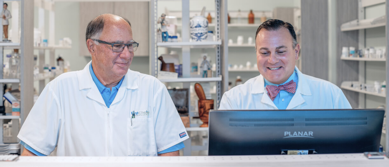pharmacists on computer