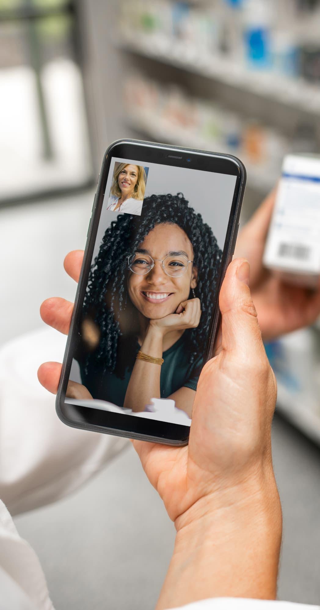 web and mobile phone call